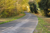 France, a little country road in Chevreuse valley — Stock Photo