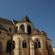 France, the exterior of the Pontoise cathedral - Stock Photo