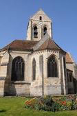De kerk van auvers sur oise, Frankrijk — Stockfoto
