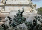 Frankrijk, het monument aux girondins Bordeaux — Stockfoto