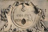 Ile de france, detalle de memorial de guerra de flins — Foto de Stock