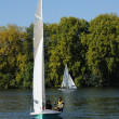 France, Les Mureaux, sailing boat on Seine river — Stock Photo #9981895
