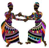 Ethnic dance — Stock Vector