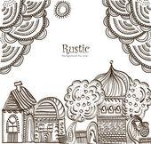Ethnic City — Stock Vector