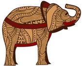 Ethnic elephant — Stock Vector