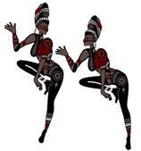 Women dance — Stock Vector