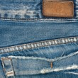 Blank leather jeans label — Stockfoto #10062149