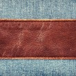 Royalty-Free Stock Photo: Jeans and leather