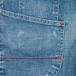 Blue jeans fabric with pocket — Stock Photo #10143542