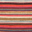 Colorful lined fabric texture — Stock Photo