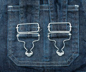 Jeans with braces — Stock Photo