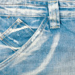 Blue jeans fabric with pocket — Stock Photo #10382808