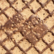 Stock Photo: Sewer manhole cover texture
