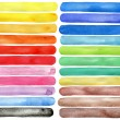 Watercolor hand painted brush strokes — Stock Photo