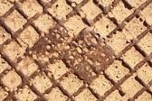 Sewer manhole cover texture — Stock Photo