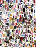 Alfabeto de recortes de jornal — Fotografia Stock