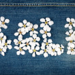 Word sale made of flowers — Stock Photo