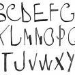 Stock Photo: Hand written black ink alphabet