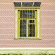 Window on a brick wall — Stock Photo