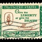 American post stamp — Stock Photo
