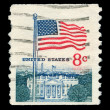 American  post stamp — Foto Stock