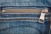 Closeup shot of jeans zipper — Stock Photo