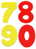 Colorful foam numbers — Stock Photo
