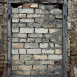 Stock Photo: Old wall with immured window
