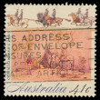 Australian post stamp — Stockfoto