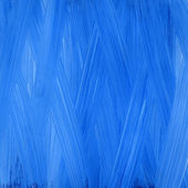 Blue hand painted acrylic background — Stock Photo