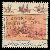 Australian post stamp — Foto Stock
