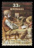 Selo de correio australiano — Foto Stock