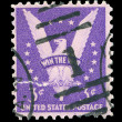 American post stamp — Stock Photo #8526591