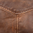 Seam on leather product — Stock Photo #8615559