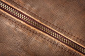 Zipper and leather — Stock Photo