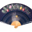 Blue hand fan — Stock Photo