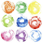 Watercolor hand painted circles — Stock Photo