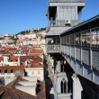Santa Justa lift, Lisbon, Portugal — Stock Photo