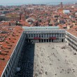 St Marks square, Venice, Italy as seen from bell tower - Stock Photo