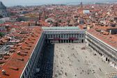 St Marks square, Venice, Italy as seen from bell tower — Stock Photo