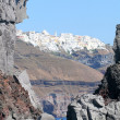 Fira as seen from an aproaching boat, Santorini, Greece — Stock Photo #8574653