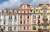 Buildings in Wenceslas square, Prague — Stock Photo
