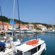 Fiskardo marina in Kefalonia, Greece — Stock Photo