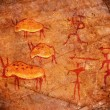 Hunters on cave paint digital illustration — Stock Photo
