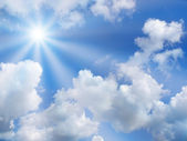 High quality sunny sky with clouds — Stock Photo