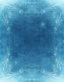 Blue grunge background with old style decoration — Photo