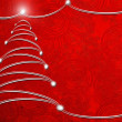 Red abstract background with christmas tree — Stock Photo #8393993