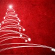 Red abstract background with christmas tree — Stock Photo #8394013