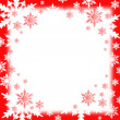 Snow flakes background — Stock Photo