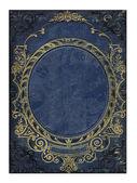 Blau und gold alte floral cover-buch — Stockfoto